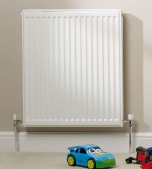 white domestic radiator